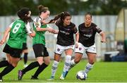 15 September 2018; Mckenna Davidson of Wexford Youths in action against Karen Duggan and Niamh Farrelly of Peamount United during the Continental Tyres Women's National League Cup Final between Wexford Youths at Peamount United at Ferrcarrig Park in Wexford. Photo by Matt Browne/Sportsfile