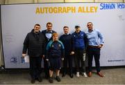 15 September 2018; Leinster players Rhys Rhuddock, Luke McGrath and James Lowe meet and greet supporters in Autograph Alley prior to the Guinness PRO14 Round 3 match between Leinster and Dragons at the RDS Arena in Dublin. Photo by David Fitzgerald/Sportsfile