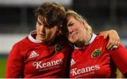 15 September 2018; Niamh Briggs of Munster, right is consoled by team captain Ciara Griffin, after her last minute conversion to win the game and the championship dropped short, during the Women's Interprovincial Championship match between Leinster and Munster at Energia Park in Donnybrook, Dublin. Photo by Brendan Moran/Sportsfile