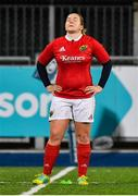 15 September 2018; Niamh Briggs of Munster watches as her last minute conversion drops short during the Women's Interprovincial Championship match between Leinster and Munster at Energia Park in Donnybrook, Dublin. Photo by Brendan Moran/Sportsfile