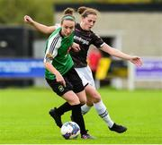 15 September 2018; Karen Duggan of Peamount United in action against Edel Kennedy of Wexford Youths during the Continental Tyres Women's National League Cup Final between Wexford Youths at Peamount United at Ferrcarrig Park in Wexford. Photo by Matt Browne/Sportsfile