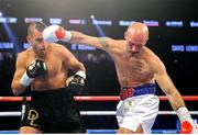 15 September 2018; Spike O'Sullivan, right, and David Lemieux during their middlewieght bout at the T-Mobile Arena in Las Vegas, Nevada, USA. Photo by Tom Hogan/Golden Boy Promotions via Sportsfile