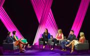 15 September 2018; A panel discussion, involing, from left, TG4 presenters Dáithí Ó Sé and Gráinne McElwain, former Dublin ladies footballer Denise Masterson, Mayo ladies footballer Cora Staunton, Mark Harte and Cork ladies footballer Bríd Stack during the LIVE from The Mansion House: 'Seó Beo Pheil na mBan le Lidl' event at the Mansion House in Dublin. Photo by Sam Barnes/Sportsfile