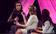 15 September 2018; A panel discussion involving, from left, Louise O'Neill, Mairead McGuinness and Máire Treasa Ní Cheallaigh during the LIVE from The Mansion House: 'Seó Beo Pheil na mBan le Lidl' event at the Mansion House in Dublin. Photo by Sam Barnes/Sportsfile