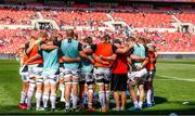 16 September 2018; Ulster team huddle prior to the Guinness PRO14 Round 3 match between Southern Kings and Ulster at Nelson Mandela Bay Stadium in Port Elizabeth, South Africa. Photo by Michael Sheehan/Sportsfile