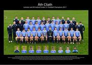13 January 2018; The Dublin U21 Football Squad, back row, from left, Bryan Murphy, Pat Naughton, Paddy Small, Glenn O'Reilly, Seán Mc Mahon, Evan Whelan, Evan Comerford, Aaron Elliott, Seán Bugler, John Campbell, Pat Coffey, Philip McElwee.  Middle row, from left, Aoife Burke, Seán Murphy, Mick Galvin, Andy Foley, Declan Monaghan, Shane Clayton, Tom Fox, Donal McIlgorm, Cormac Howley, Seán Rocks, Darragh Spillane, Oisín Lynch, Cathal Ó Tórna, Alan McNally, Frankie Farrell. Front row, from left, Aaron Duffy, Stephen Smith, Eoin Murchan, Aaron Byrne, Chris Sallier, joint captain Cillian O'Shea, Manager Dessie Farrell, Darren Byrne, Cian Murphy, Brian Howard, Colm Basquel, Dan O'Brien. Inserts, from left, Andrew Kelly, joint captain Con O'Callaghan, Andrew McGowan, Oisín Kelly, Tony O'Sullivan, Ben Shovlin, Aaron Bradshaw, Darren Gavin, Ciarán Walsh, at Parnell Park in Dublin. Photo by Brendan Moran/Sportsfile