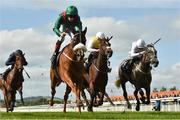 16 September 2018; Eziyra, with Declan McDonogh up, on their way to winning The Moyglare 'Jewels' Blandford Stakes from second place Who's Steph, right, with Colin Keane up, and third place I'm So Fancy, centre, with Shane Foley up, during the Curragh Races on St Ledger Day at the Curragh Racecourse in Curragh, Kildare. Photo by Matt Browne/Sportsfile