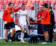 16 September 2018; John Cooney of Ulster leaves the field with an injury during the Guinness PRO14 Round 3 match between Southern Kings and Ulster at Nelson Mandela Bay Stadium in Port Elizabeth, South Africa. Photo by Michael Sheehan/Sportsfile