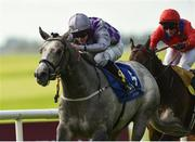 16 September 2018; Havana Grey, with Richard Kingscote up, on their way to winning the The Derrinstown Stud Flying Five Stakes from Take Cover, with David Allan up, at the Curragh Races on St Ledger Day at the Curragh Racecourse in Curragh, Kildare. Photo by Matt Browne/Sportsfile