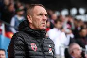 16 September 2018; Derry City manager Kenny Shiels prior to the EA SPORTS Cup Final between Derry City and Cobh Ramblers at the Brandywell Stadium in Derry. Photo by Stephen McCarthy/Sportsfile