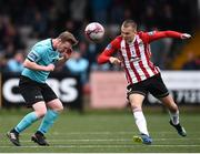 16 September 2018; Shane O'Connor of Cobh Ramblers in action against Rory Hale of Derry City during the EA SPORTS Cup Final between Derry City and Cobh Ramblers at the Brandywell Stadium in Derry. Photo by Stephen McCarthy/Sportsfile