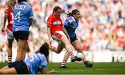 16 September 2018; Áine O'Sullivan of Cork shoots to score her side's first goal during the TG4 All-Ireland Ladies Football Senior Championship Final match between Cork and Dublin at Croke Park, Dublin. Photo by David Fitzgerald/Sportsfile