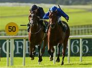 16 September 2018; Quorto, right, with William Buick up, on their way to winning The Goffs Vincent O'Brien National Stakes from second place Anthony Van Dyck, with Ryan Moore up, during the Curragh Races on St Ledger Day at the Curragh Racecourse in Curragh, Kildare. Photo by Matt Browne/Sportsfile