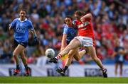 16 September 2018; Áine O'Sullivan of Cork  in action against Siobhán McGrath of Dublin during the TG4 All-Ireland Ladies Football Senior Championship Final match between Cork and Dublin at Croke Park, Dublin. Photo by Eóin Noonan/Sportsfile