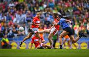 16 September 2018; Áine O'Sullivan of Cork  shoots to score her side's first goal during the TG4 All-Ireland Ladies Football Senior Championship Final match between Cork and Dublin at Croke Park, Dublin. Photo by Eóin Noonan/Sportsfile