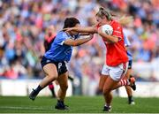 16 September 2018; Saoirse Noonan of Cork in action against Niamh Collins of Dublin during the TG4 All-Ireland Ladies Football Senior Championship Final match between Cork and Dublin at Croke Park, Dublin. Photo by Sam Barnes/Sportsfile