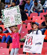 16 September 2018;  Young Ulster Rugby supporters with their banners during the Guinness PRO14 Round 3 match between Southern Kings and Ulster at Nelson Mandela Bay Stadium in Port Elizabeth, South Africa. Photo by Michael Sheehan/Sportsfile