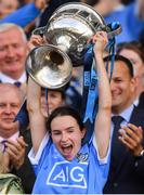 16 September 2018; Dublin captain Sinead Aherne lifts the Brendan Martin cup after the TG4 All-Ireland Ladies Football Senior Championship Final match between Cork and Dublin at Croke Park, Dublin. Photo by Brendan Moran/Sportsfile