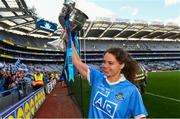 16 September 2018; Noelle Healy celebrates with the Brendan Martin Cup  following the TG4 All-Ireland Ladies Football Senior Championship Final match between Cork and Dublin at Croke Park, Dublin. Photo by Sam Barnes/Sportsfile