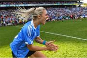 16 September 2018; Nicole Owens of Dublin celebrates following the TG4 All-Ireland Ladies Football Senior Championship Final match between Cork and Dublin at Croke Park, Dublin. Photo by Eóin Noonan/Sportsfile