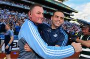 16 September 2018; Dublin manager Mick Bohan, left, and defensive coach Paul Casey celebrate following the TG4 All-Ireland Ladies Football Senior Championship Final match between Cork and Dublin at Croke Park, Dublin. Photo by Sam Barnes/Sportsfile