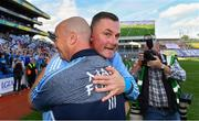 16 September 2018; Dublin manager Mick Bohan, right, and coach Ken Robinson celebrate following the TG4 All-Ireland Ladies Football Senior Championship Final match between Cork and Dublin at Croke Park, Dublin. Photo by Sam Barnes/Sportsfile