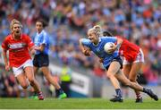 16 September 2018; Nicole Owens of Dublin in action against Eimear Meaney of Cork following the TG4 All-Ireland Ladies Football Senior Championship Final match between Cork and Dublin at Croke Park, Dublin. Photo by Eóin Noonan/Sportsfile