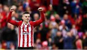 16 September 2018; Ronan Hale of Derry City celebrates at the final whistle of the EA SPORTS Cup Final between Derry City and Cobh Ramblers at the Brandywell Stadium in Derry. Photo by Stephen McCarthy/Sportsfile