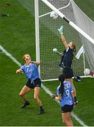16 September 2018; Dublin goalkeeper Ciara Trant pushes the ball over the bar during the TG4 All-Ireland Ladies Football Senior Championship Final match between Cork and Dublin at Croke Park, Dublin. Photo by Piaras Ó Mídheach/Sportsfile