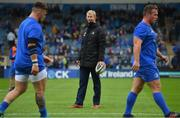 15 September 2018; Leinster head coach Leo Cullen during the Guinness PRO14 Round 3 match between Leinster and Dragons at the RDS Arena in Dublin. Photo by Brendan Moran/Sportsfile