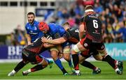15 September 2018; Josh van der Flier of Leinster during the Guinness PRO14 Round 3 match between Leinster and Dragons at the RDS Arena in Dublin. Photo by Brendan Moran/Sportsfile
