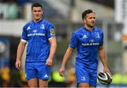 15 September 2018; Jamison Gibson-Park of Leinster, right, with Jonathan Sexton during the Guinness PRO14 Round 3 match between Leinster and Dragons at the RDS Arena in Dublin. Photo by Brendan Moran/Sportsfile