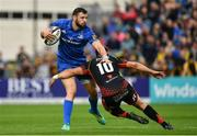 15 September 2018; Robbie Henshaw of Leinster is tackled by Josh Lewis of Dragons during the Guinness PRO14 Round 3 match between Leinster and Dragons at the RDS Arena in Dublin. Photo by Brendan Moran/Sportsfile