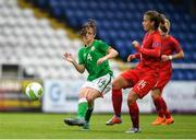 17 September 2018; Emily Whelan of Republic of Ireland in action against Andrea Hola of Czech Republic during the Women's U17 International Friendly match between Republic of Ireland and Czech Republic at the RSC in Waterford. Photo by Harry Murphy/Sportsfile