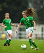 17 September 2018; Shauna Carroll of Republic of Ireland during the Women's U17 International Friendly match between Republic of Ireland and Czech Republic at the RSC in Waterford. Photo by Harry Murphy/Sportsfile