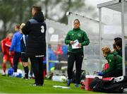 17 September 2018; Republic of Ireland coach Rianna Jarrett during the Women's U17 International Friendly match between Republic of Ireland and Czech Republic at the RSC in Waterford. Photo by Harry Murphy/Sportsfile