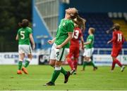 17 September 2018; Mia Dodd of Republic of Ireland reacts after missing a shot on goal during the Women's U17 International Friendly match between Republic of Ireland and Czech Republic at the RSC in Waterford. Photo by Harry Murphy/Sportsfile