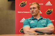 17 September 2018; Keith Earls during a Munster rugby press conference at the University of Limerick in Limerick. Photo by Diarmuid Greene/Sportsfile