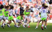 16 September 2018; Action from St. Sylvester's, Co. Dublin, vs St Mary's, Co. Galway, during the Half-time GO Games during the TG4 All-Ireland Ladies Football Championship Finals at Croke Park, Dublin. Photo by Sam Barnes/Sportsfile