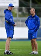 17 September 2018; Head coach Leo Cullen, left, and senior coach Stuart Lancaster during Leinster Rugby squad training at Energia Park in Donnybrook, Dublin. Photo by Ramsey Cardy/Sportsfile