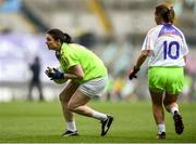 16 September 2018; Action from the match between Moy Davitts and Cashel during the Half-time GO Games during the TG4 All-Ireland Ladies Football Championship Finals at Croke Park, Dublin. Photo by David Fitzgerald/Sportsfile