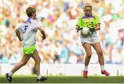 16 September 2018; Action from the match between Inch Rovers and Erin Go Bragh during the Half-time GO Games during the TG4 All-Ireland Ladies Football Championship Finals at Croke Park, Dublin. Photo by David Fitzgerald/Sportsfile