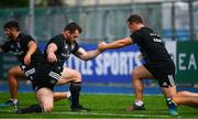 17 September 2018; Cian Healy, left, and Bryan Byrne during Leinster Rugby squad training at Energia Park in Donnybrook, Dublin. Photo by Ramsey Cardy/Sportsfile