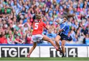 16 September 2018; Noelle Healy of Dublin in action against Maire O'Callaghan of Cork during the TG4 All-Ireland Ladies Football Senior Championship Final match between Cork and Dublin at Croke Park, Dublin. Photo by Sam Barnes/Sportsfile