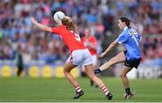 16 September 2018; Sinead Aherne of Dublin in action against Róisín Phelan of Cork during the TG4 All-Ireland Ladies Football Senior Championship Final match between Cork and Dublin at Croke Park, Dublin. Photo by Sam Barnes/Sportsfile