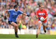16 September 2018; Ashling Hutchings of Cork in action against Olwen Carey of Dublin during the TG4 All-Ireland Ladies Football Senior Championship Final match between Cork and Dublin at Croke Park, Dublin. Photo by Sam Barnes/Sportsfile