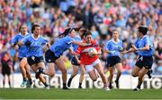 16 September 2018; Eimear Scally of Cork in action against Olwen Carey of Dublin during the TG4 All-Ireland Ladies Football Senior Championship Final match between Cork and Dublin at Croke Park, Dublin. Photo by Sam Barnes/Sportsfile