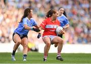 16 September 2018; Ashling Hutchings of Cork in action against Leah Caffrey of Dublin during the TG4 All-Ireland Ladies Football Senior Championship Final match between Cork and Dublin at Croke Park, Dublin. Photo by Sam Barnes/Sportsfile