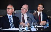 18 September 2018; Uachtarán Chumann Lúthchleas Gael John Horan during the launch of the ESRI Report into Playing Senior Intercounty Gaelic Games at Croke Park in Dublin. Photo by Sam Barnes/Sportsfile