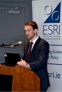 18 September 2018; Seamus Hickey, CEO of the GPA, speaking during the launch of the ESRI Report into Playing Senior Intercounty Gaelic Games at Croke Park in Dublin. Photo by Sam Barnes/Sportsfile